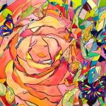 Paintings by Michelle Taylor | Rose Butterfly